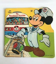 1980 Golden Shape Book Walt Disney's The Mouseketeers' Train Ride - $9.49
