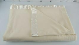 Living Quarters Microfleece Micro Fleece & Satin Trim Cream Ivory Twin B... - $49.49
