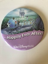 "Walt Disney World Happily Ever After Guest Celebrating Pinback Button 3"" Pin - $5.10"