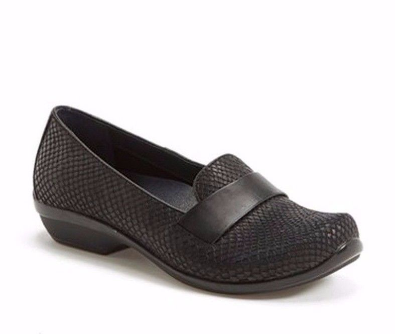 7a658ab2ebb  139 DANSKO Oksana Black Snake print Leather Loafer 37 6.5 - 7 -  57.86