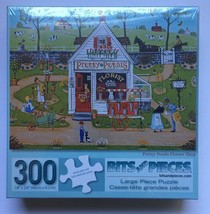 "Bits And Pieces  Pretty Petal Flower Shop 300 Piece Puzzle 18"" X 24""  Sealed New - $8.99"
