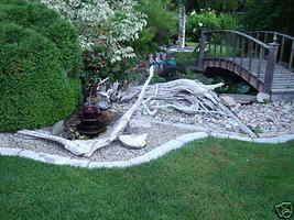 4 Large DIY Concrete Garden Edging Lawn Landscape Mold Set Wall Blocks Fast Ship image 4