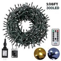 Christmas String Lights 108FT 300LEDS Indoor Outdoor Tree Lights Waterpr... - $27.44