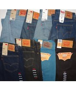 Levis 501 511 569 505 Regular Skinny Slim Loose Boot Cut Fit Men's Jeans... - $29.40+