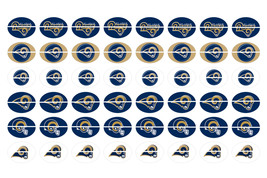 Precut LOS ANGELES RAMS 12 x 16mm Shoelace Charm Oval Images Paracord Br... - $3.75