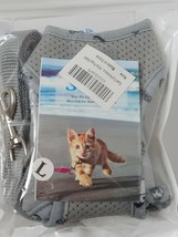 Cat Harness Gray Red Green for Kittens Cats Walking Home Outdoor Harness... - $9.99