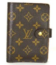 LOUIS VUITTON Monogram Agenda PM Brown Notebook Day Planner Cover CA0998... - $187.00