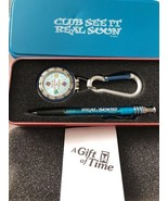 Disney Club Cast Member Exclusive Pocket Clip Watch With Pen A Gift Of Time - $24.18