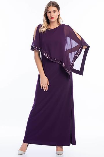 Scoop Neckline Lace Long Evening Dress