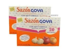 Bundle of 2 Of Goya Sazon With Garlic And Onion Co Ajo Y Cebolla 3.5 Ounces - $11.87