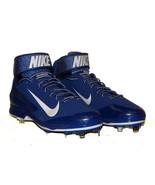 Nike Huarache Pro Mid Metal Baseball Cleat Blue 599235 NWOB PE Sample Ra... - $39.48