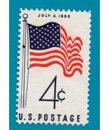 Scott  #1153  Mint US Stamp 1960  4th Of July Flag 1960  - $1.99