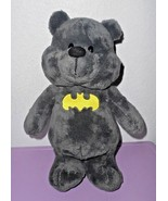Six Flags Batman Bear Plush Stuffed Animal Grey Yellow Symbol Plush Toy - $34.53