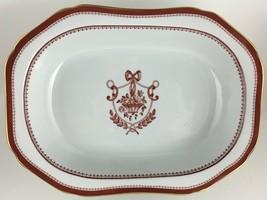 Spode Newburyport Y3360 Red Oval vegetable bowl  - $30.00
