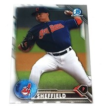 Mlb Justus Sheffield Cleveland Indians 2016 Bowman Chrome Baseball #20 Nmnt - $1.07