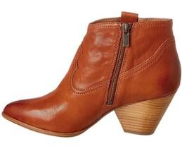 Frye Women's Reina Cognac Leather Western Ankle Bootie 3479257-COG NIB image 2