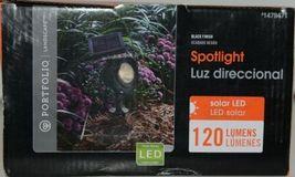 Portfolio Landscape 1479471 Solar LED Spotlight Black Finish 120 Lumens Pkg 1 image 5