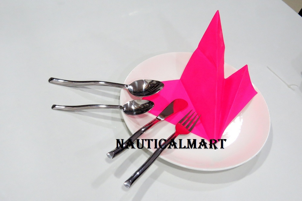 Primary image for Al-Nurayn Cutlery Set in Stainless Steel Flatware Set of 4 By NauticalMart