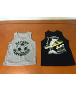 Lot of 2 Boys Kids Children's Place Blue & Gray Tank Tops Shirts Size 5-... - $9.89
