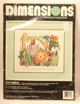 Dimensions Stamped Cross Stitch NOS It's A jungle In Here - $14.84