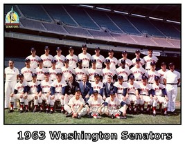 MLB 1963 Washington Senators Color Team Picture 8 X 10 Photo Picture - $5.93