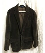 Vintage Polo Ralph Lauren Brown Corduroy Blazer 42R Jacket - $72.26