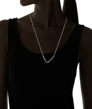 Gemelli Gold Plated Matte Rainbow Agate Austrian Crystal Tribal V-Necklace NWT image 2