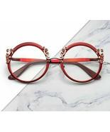 Eyeglasses Frames Round Metal Design Clear Glasses for Women Fashion Eye... - $19.99