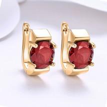 *CKstella*  Sterling Silver Dangle Earrings w/ Swarovski Ruby Red Crysta... - $7.83
