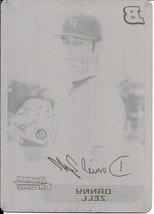 2005 Bowman Chrome Danny Zell Black Printing Plate Rookie Rc (1/1) - $46.61