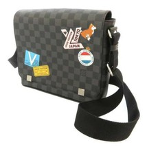 LOUIS VUITTON District PM NM Damier Canvas Graphite Shoulder Bag Patches... - $1,821.70