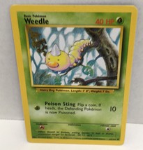 Weedle 69/102 Pokemon Card TCG Wizards Original Base Set NM Great Condition - $2.16