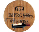 Aged round wine wall rack thumb155 crop
