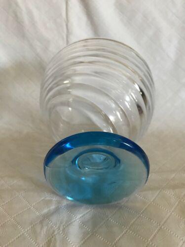 Set of 2 Sherbet Glasses SWIRL RIBBED PATTERN SHERBERT/DESSERT DISH Colored Foot