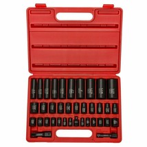 "Neiko 02443A 3/8"" And 1/2"" Drive Master Impact Socket Set, 38 Piece Deep... - $62.36"