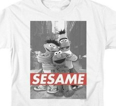 Bert, Ernie  Elmo T-shirt Sesame Street Retro TV series graphic tee SST133 image 2