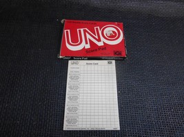 Old Vtg 1978 International Games UNO DOUBLE SCORE CARDS Pad #4001 UNUSED - $9.89