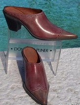 Donald Pliner Western Couture Boot Mule Shoe New Sz 6 Oil Skin Calf Leather $300 - $135.00