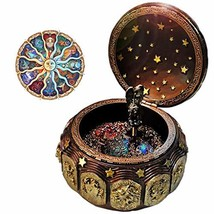 Vintage Music Box with 12 Constellations Rotating Goddess LED lights Twi... - $63.55