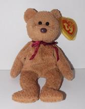 Ty Beanie Baby Curly Plush Teddy Bear 6in Stuffed Animal Retired Tag Err... - $24.99