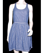 NWT SUPERDRY TOKYO VINTAGE casual women blue TUNIC DRESS strap sleevelee... - $29.99