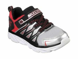 Boys' Skechers S Lights Hypno-Flash 3.0 Sneaker Silver/Red - $67.91