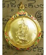 Holy Tevada Pra-Rahoo Tepkikut Magic Pendant Gold Case Top Buddha Amulet Ama037 - $10.66 CAD