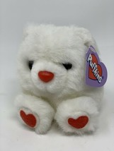 "Plush HUGS the Love Bear Swibco Puffkins #6679  Stuffed Animal 4"" White Toy - $7.91"