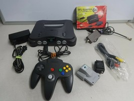 TESTED Grey Nintendo 64 N64 Video Game Console System OEM Controller Cor... - $124.73