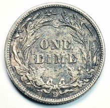 1912D Silver Barber Dime 10¢ Coin Lot# A 243 image 2