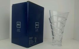 "Mikasa Elite Collection Crosswinds Lead Crystal 9.5"" Modernist Vase w/ Box Mint - $37.04"