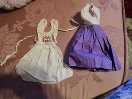 Vintage Horsman Mary Poppins Doll Apron & Purple Dress - $9.95