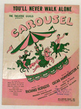Vintage Sheet Music ~ YOU'LL NEVER WALK ALONE from Theatre Guild CAROUSE... - $12.99