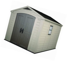 Keter Factor Large 8 x 11 ft. Resin Outdoor Yard Garden Storage Shed, Ta... - $1,778.46